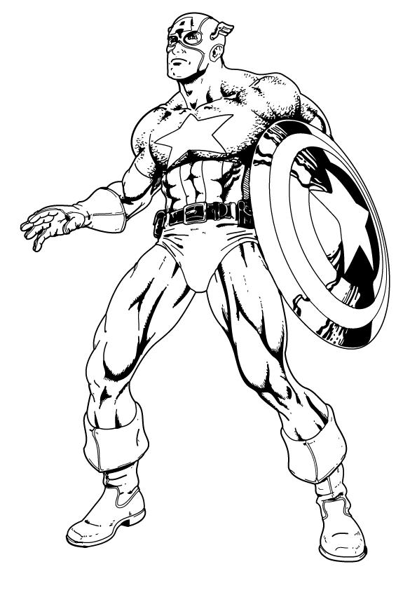 captain america of dessin à colorier