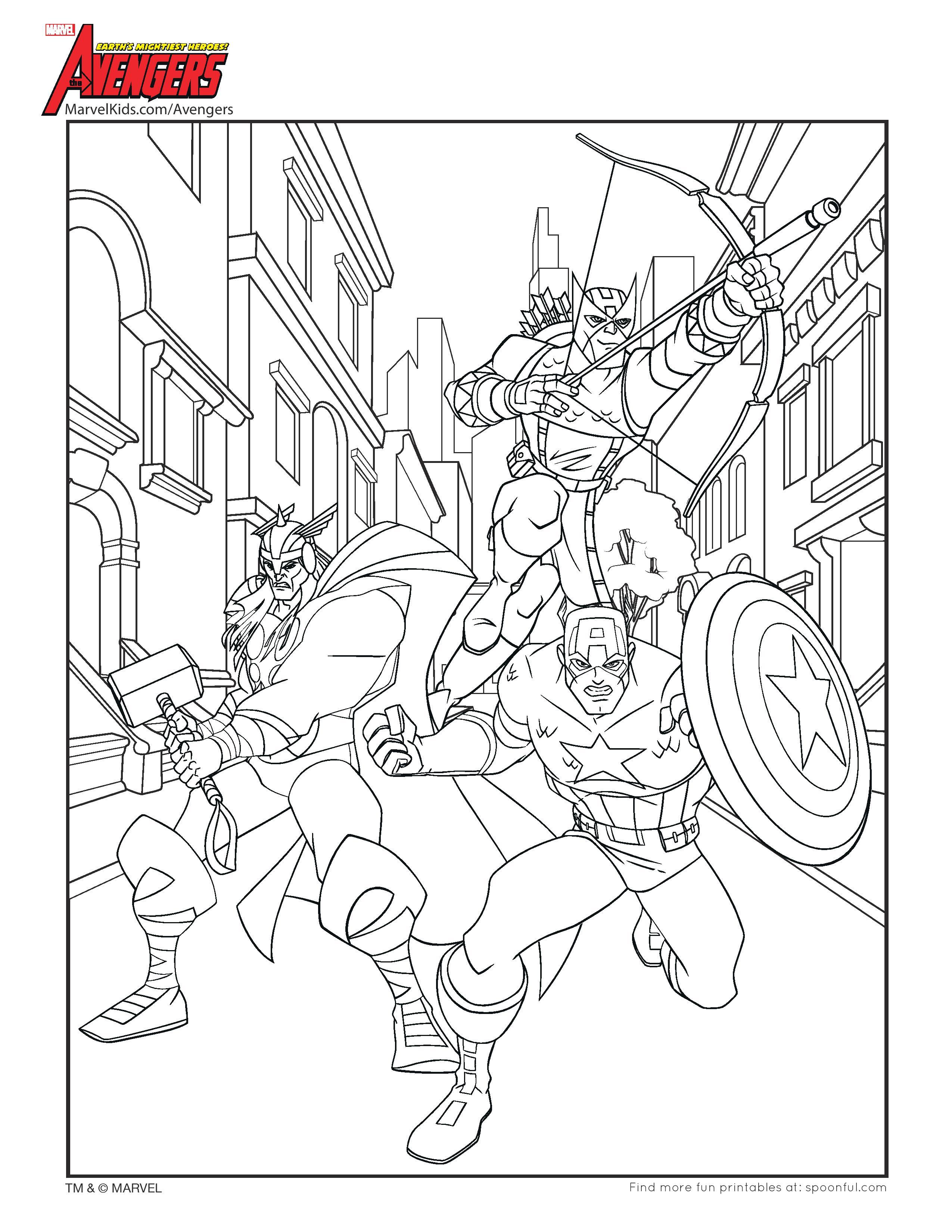 coloriage pages thor captain americà imprimer 0  page (