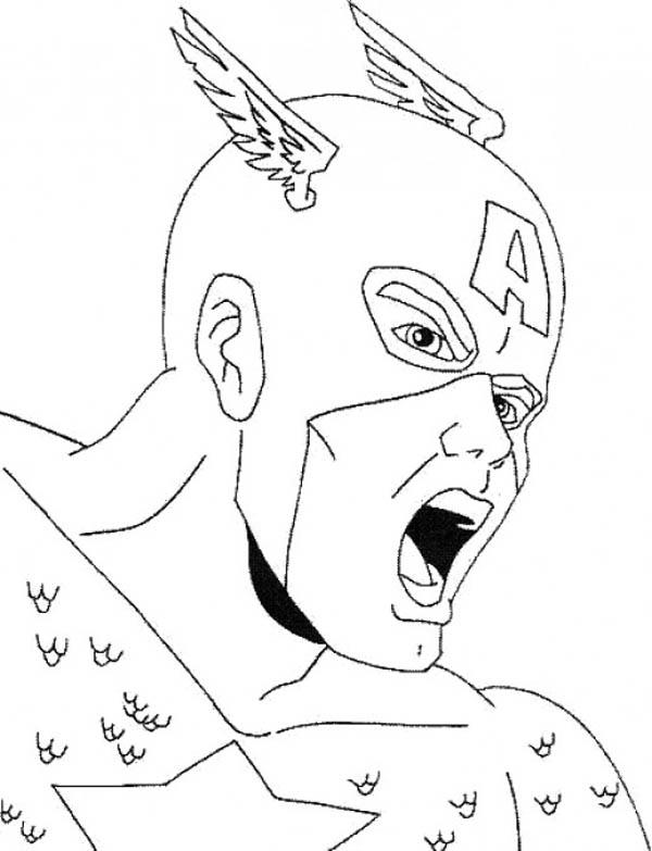 captain america, : great captain america dessin à colorier