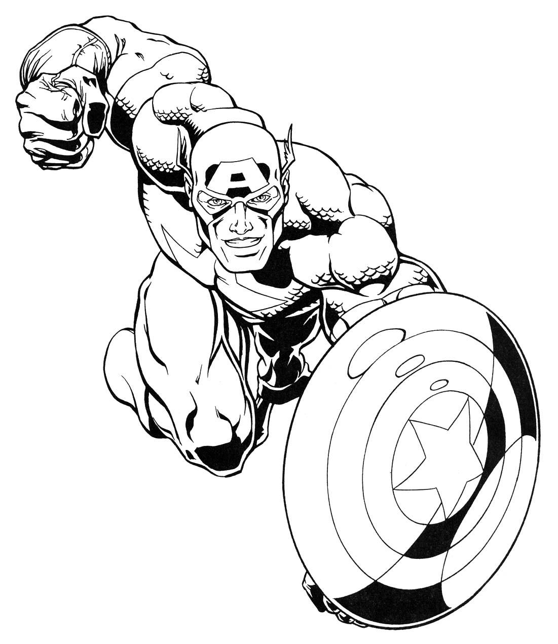 captain america dessins à colorier et book