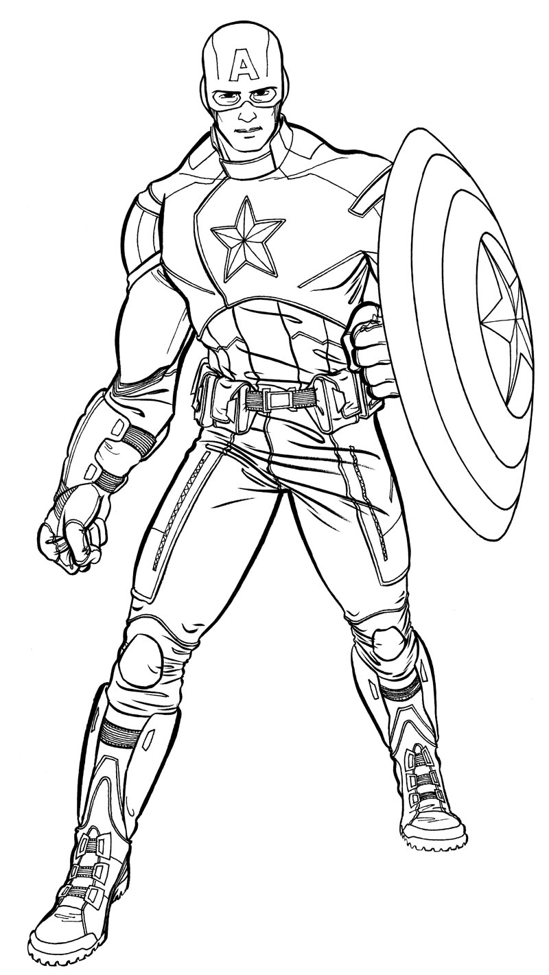 156 dessins de coloriage captain america imprimer sur - Dessin captain america ...