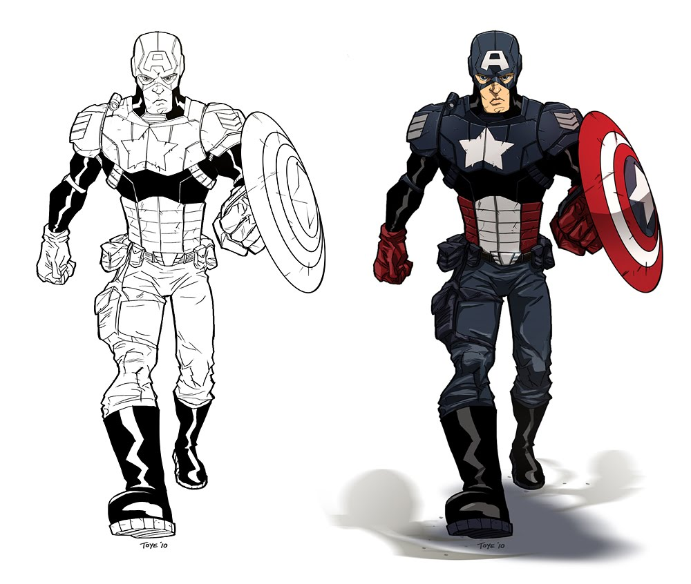 america is one of super hero of marvel comic. captain america coloriage
