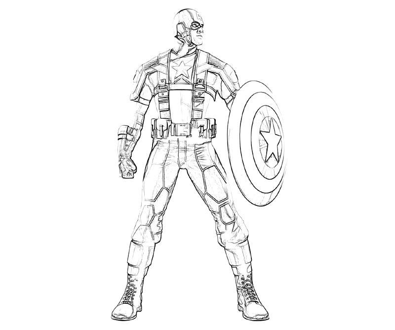 à imprimer marvel vs capcom captain america character dessins à colorier