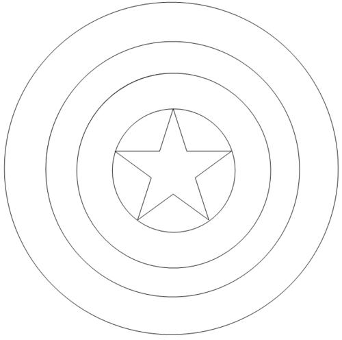 captain america logo dessin à colorier