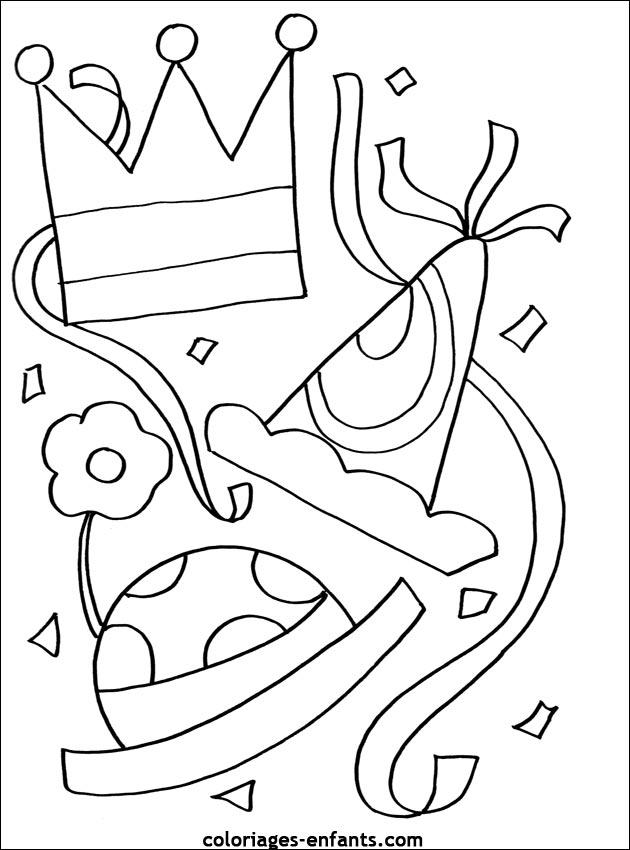 dessin 10211 coloriage gratuit de carnaval imprimer