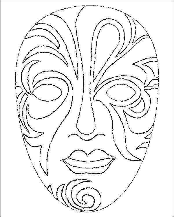 S lection de dessins de coloriage carnaval imprimer sur - Dessin de masque africain ...