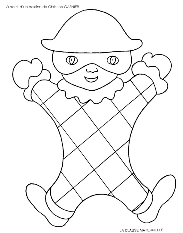 dessin 10188 coloriage carnaval gratuit imprimer et colorier