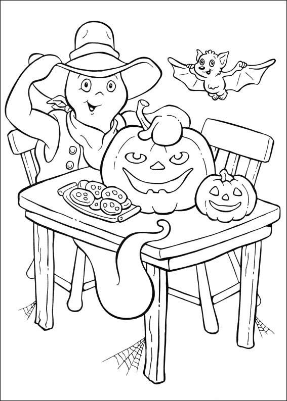 Coloriage casper gratuit - dessin a imprimer #100
