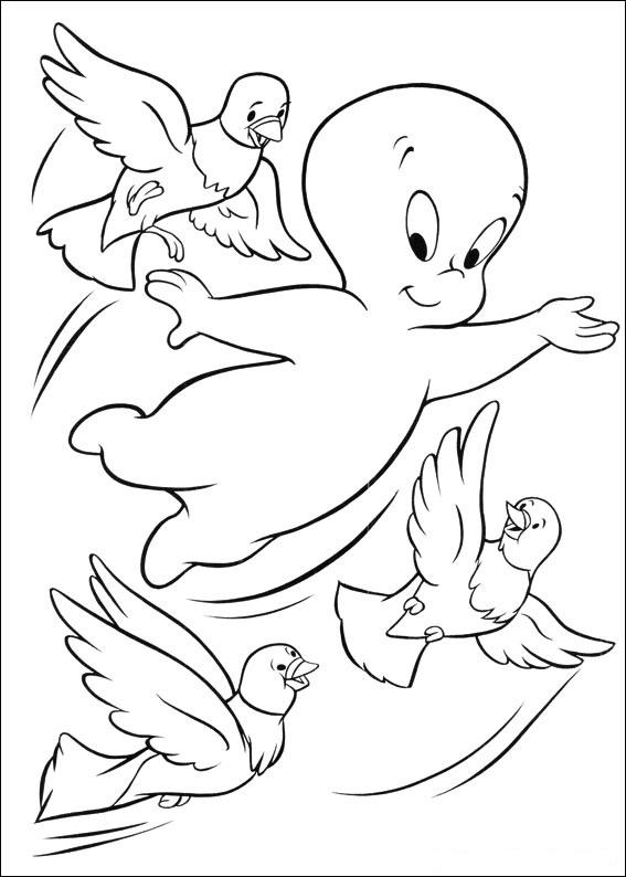 Coloriage casper gratuit - dessin a imprimer #12