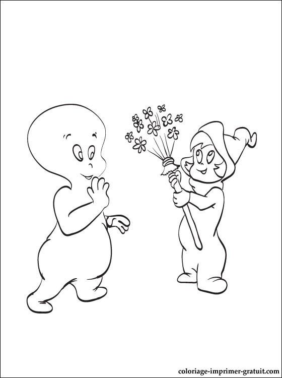 Coloriage casper gratuit - dessin a imprimer #121