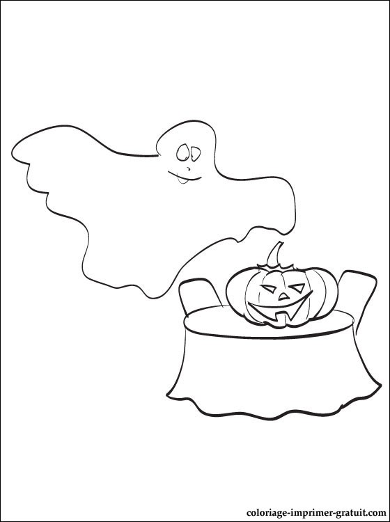 Coloriage casper gratuit - dessin a imprimer #125