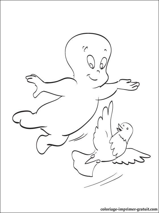 Coloriage casper gratuit - dessin a imprimer #177