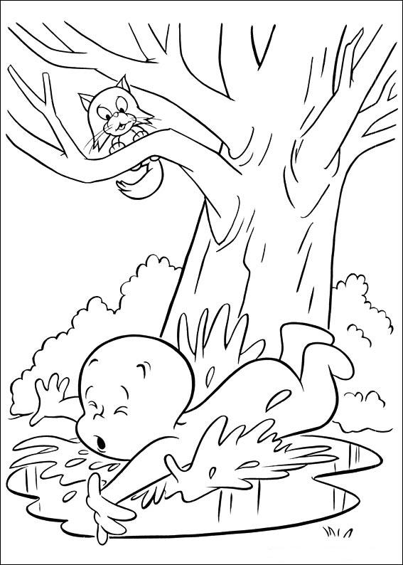 Coloriage casper gratuit - dessin a imprimer #270