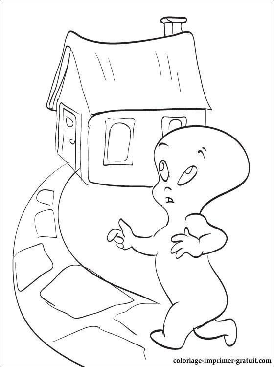 Coloriage casper gratuit - dessin a imprimer #36
