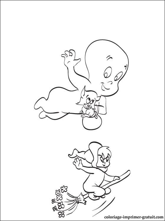 Coloriage casper gratuit - dessin a imprimer #41