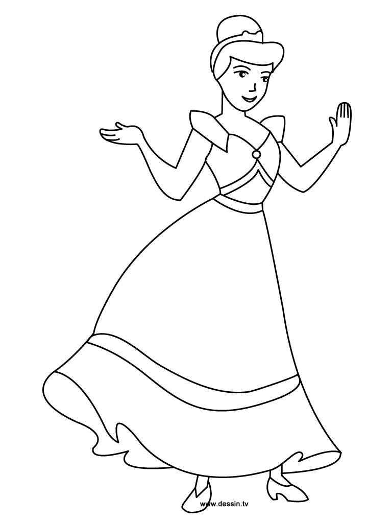 S lection de dessins de coloriage cendrillon imprimer sur page 7 - Coloriage en ligne cendrillon ...
