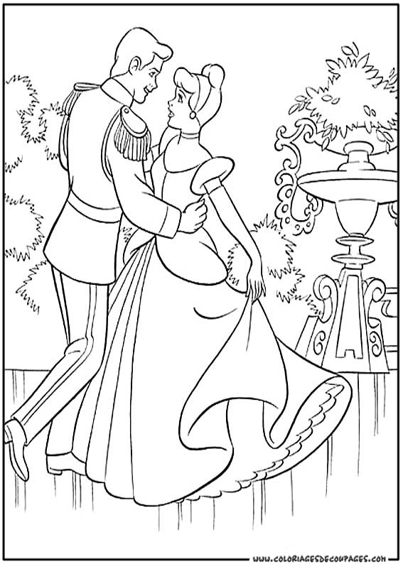 S lection de dessins de coloriage cendrillon imprimer sur page 4 - Coloriage cendrillon en ligne ...