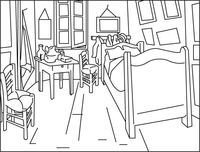 image 19177 coloriage chambre gratuit - Dessin De Chambre