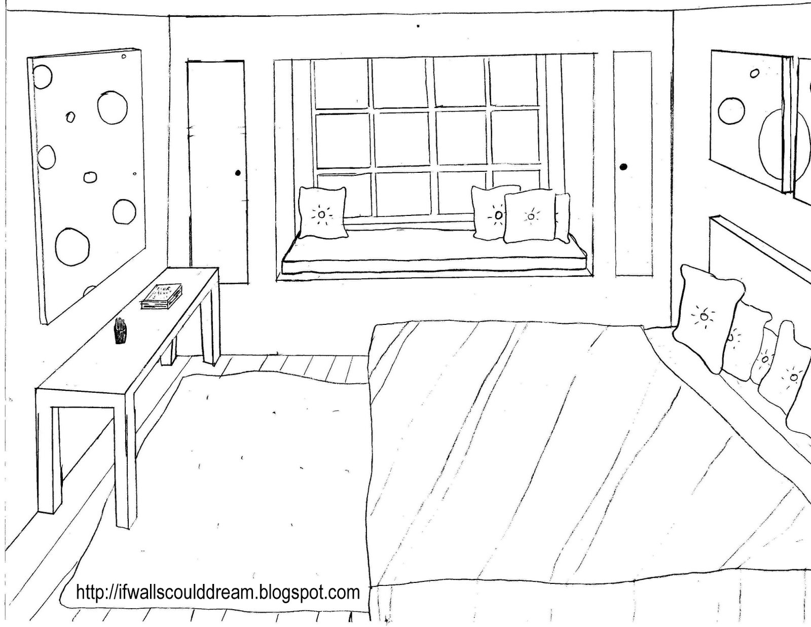 38 dessins de coloriage chambre imprimer sur laguerche for Draw a bedroom layout online