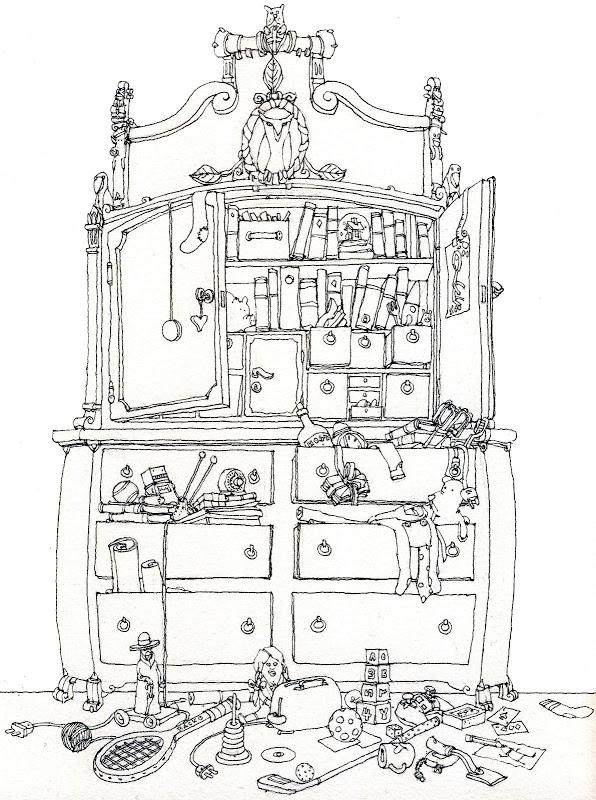 Coloriage Accessoire Chambre : Dessins de coloriage chambre à imprimer sur laguerche