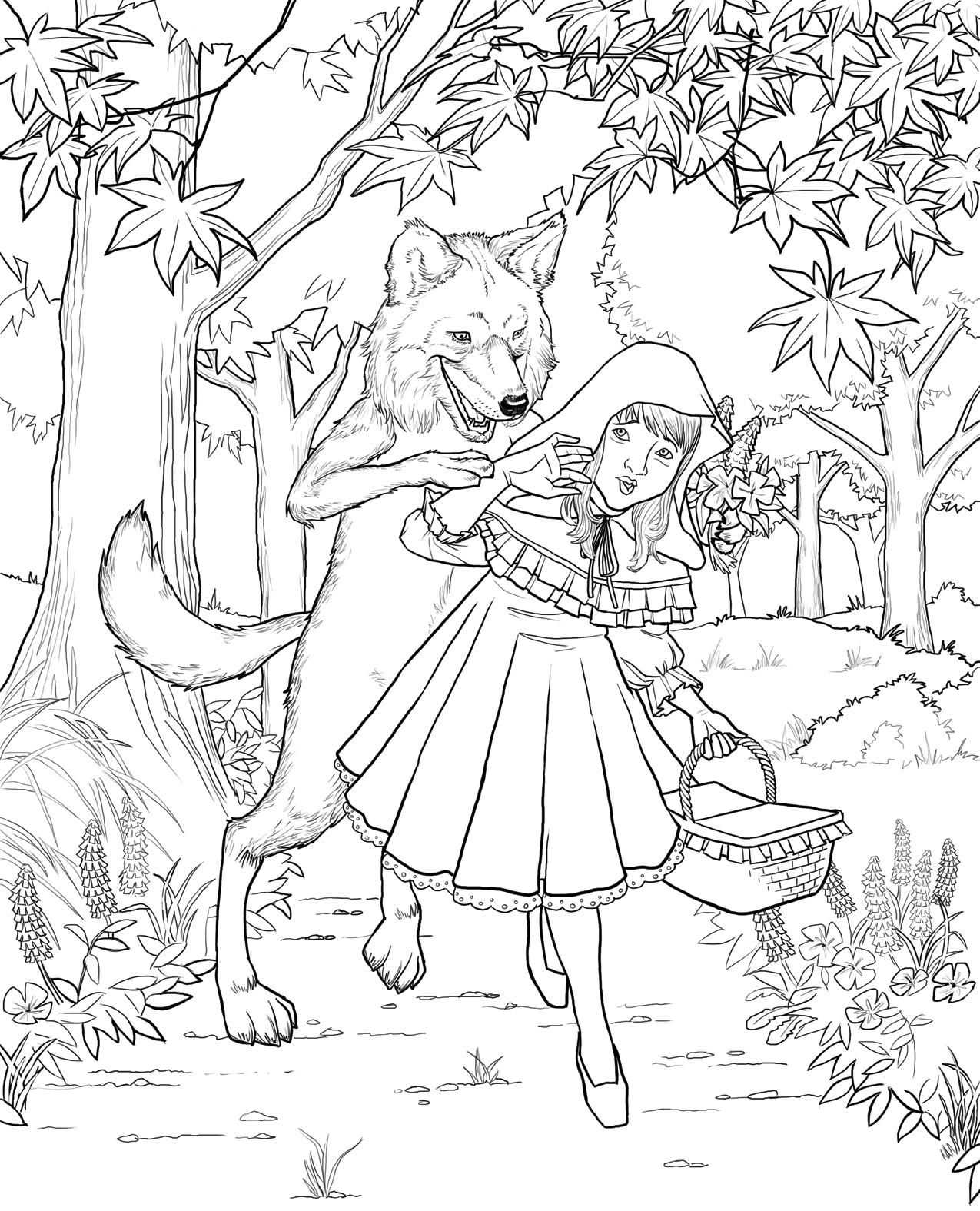 51 dessins de coloriage Chaperon Rouge à imprimer sur ...