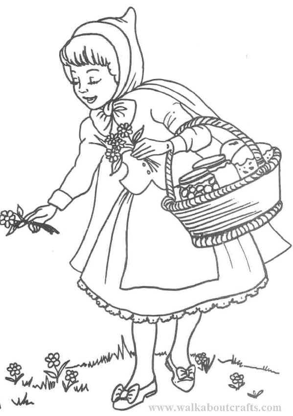 51 dessins de coloriage chaperon rouge imprimer sur page 2 - Dessin chaperon rouge ...