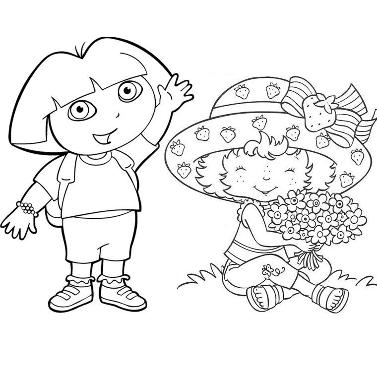Coloriage charlotte aux fraises gratuit - dessin a imprimer #11