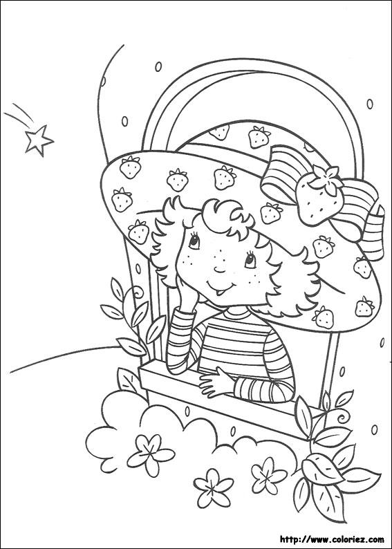 Coloriage charlotte aux fraises gratuit - dessin a imprimer #138