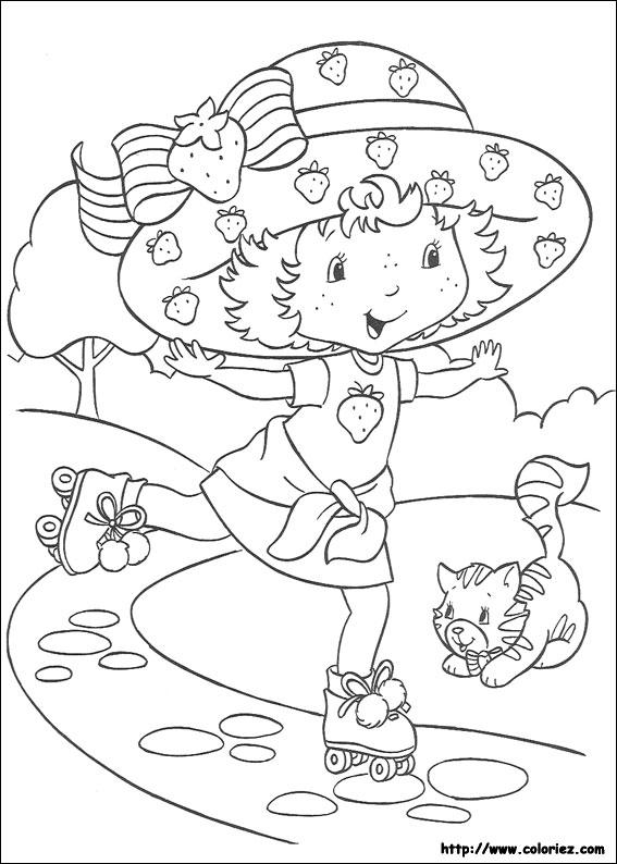Coloriage charlotte aux fraises gratuit - dessin a imprimer #147
