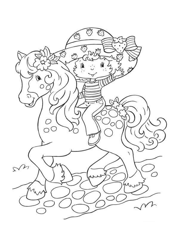 Coloriage charlotte aux fraises gratuit - dessin a imprimer #15
