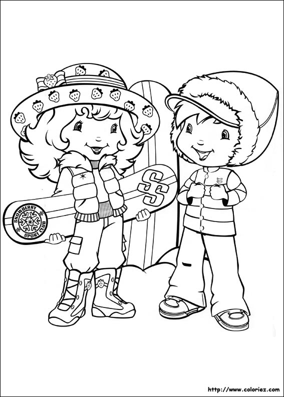 Coloriage charlotte aux fraises gratuit - dessin a imprimer #16