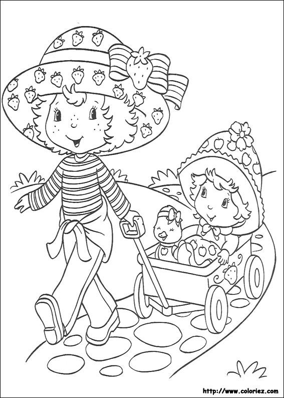 Coloriage charlotte aux fraises gratuit - dessin a imprimer #17