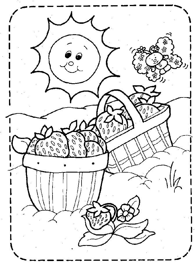 Coloriage charlotte aux fraises gratuit - dessin a imprimer #173