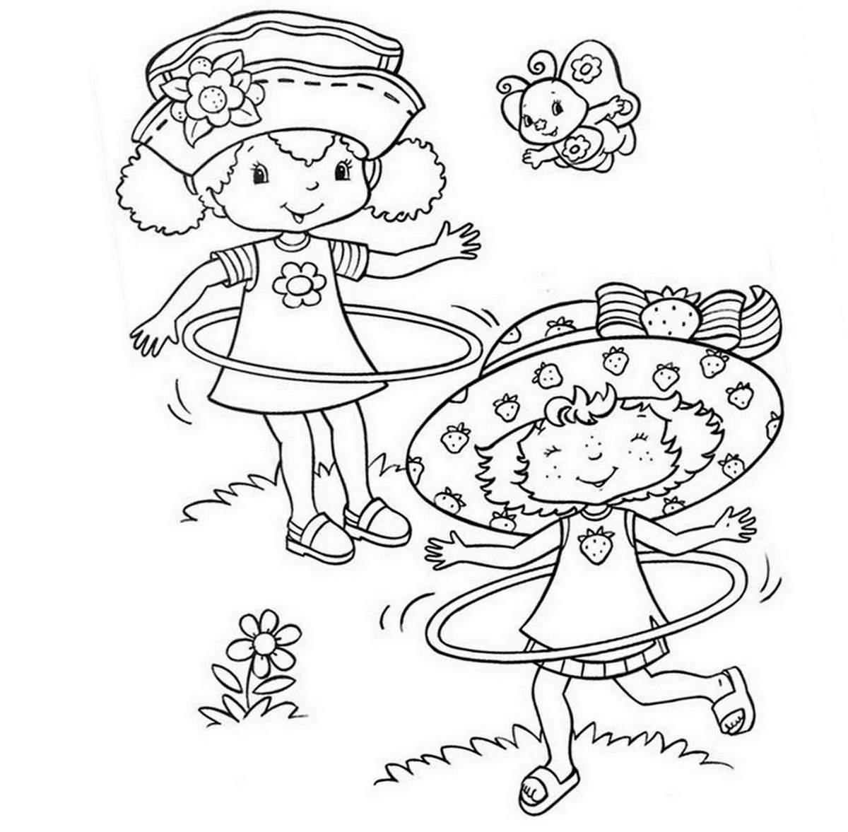 Coloriage charlotte aux fraises gratuit - dessin a imprimer #175