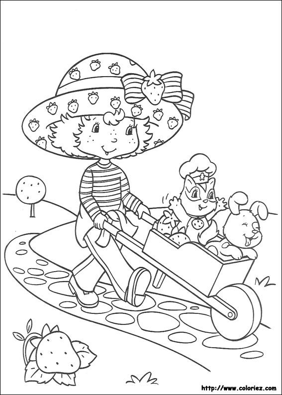 Coloriage charlotte aux fraises gratuit - dessin a imprimer #176