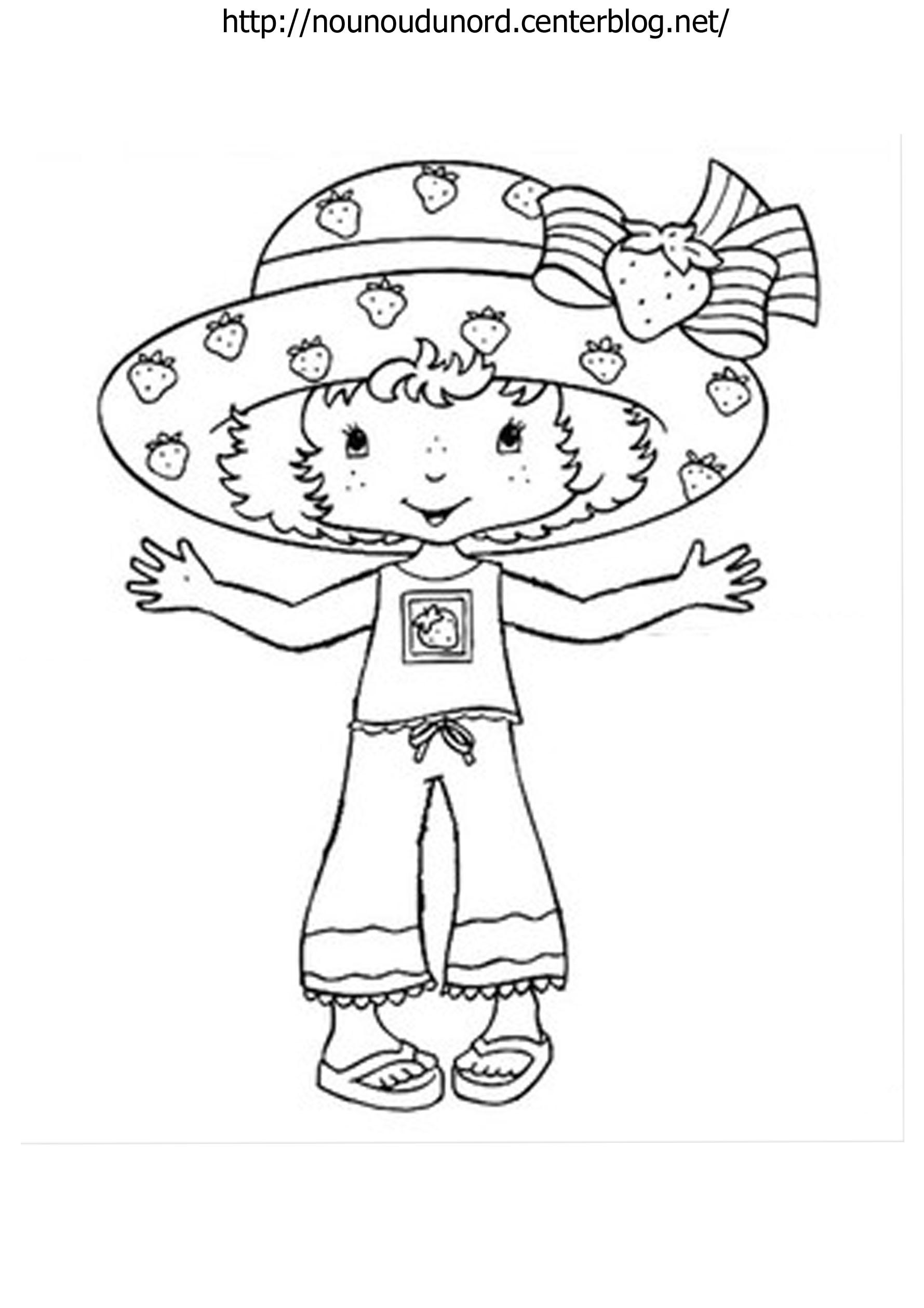 Coloriage charlotte aux fraises gratuit - dessin a imprimer #21