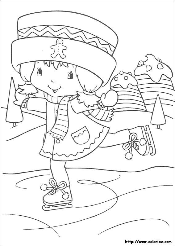 Coloriage charlotte aux fraises gratuit - dessin a imprimer #216