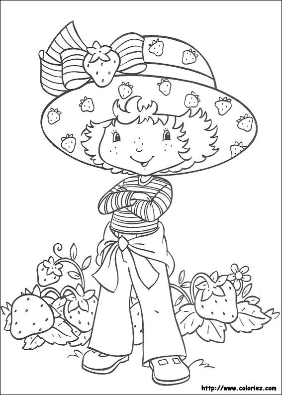 Coloriage charlotte aux fraises gratuit - dessin a imprimer #22