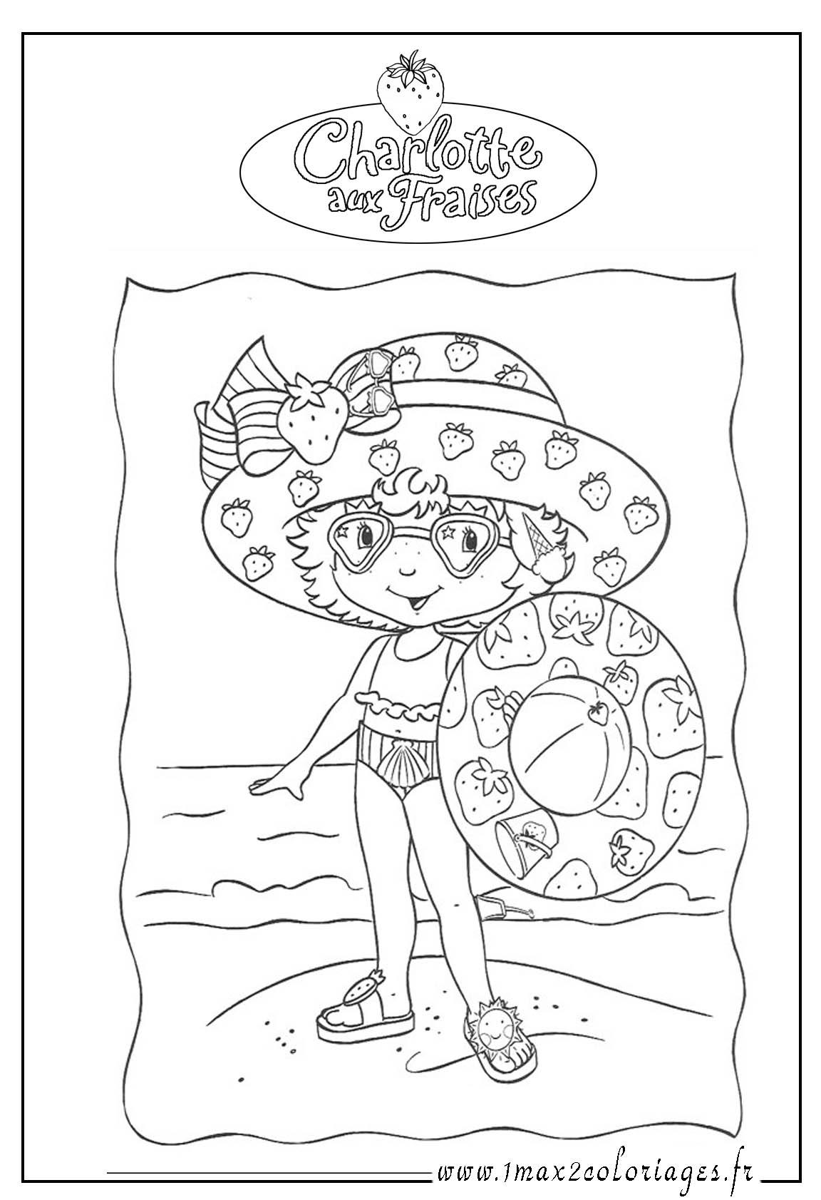 Coloriage charlotte aux fraises gratuit - dessin a imprimer #231