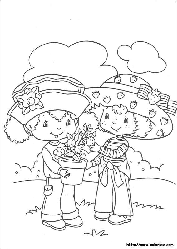 Coloriage charlotte aux fraises gratuit - dessin a imprimer #240