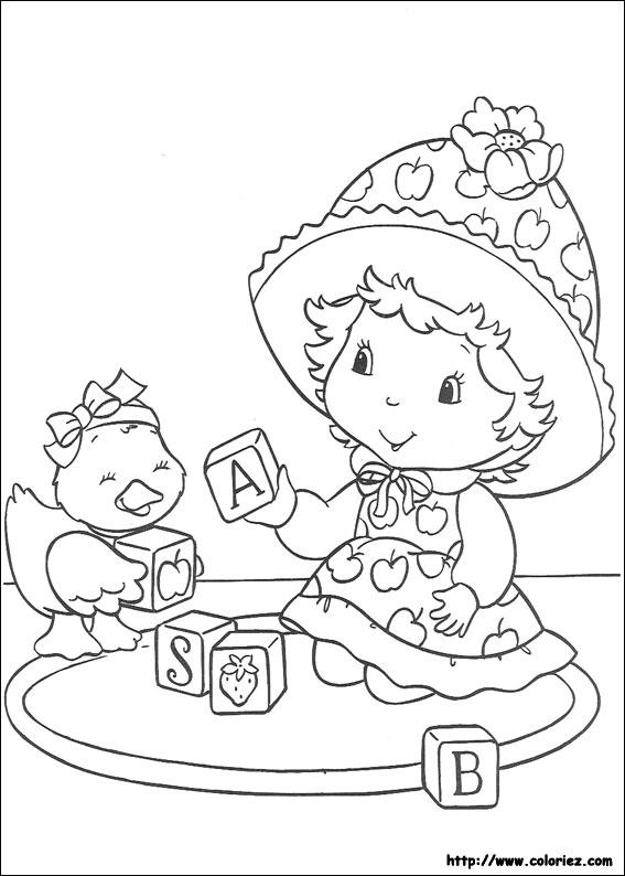 Coloriage charlotte aux fraises gratuit - dessin a imprimer #243