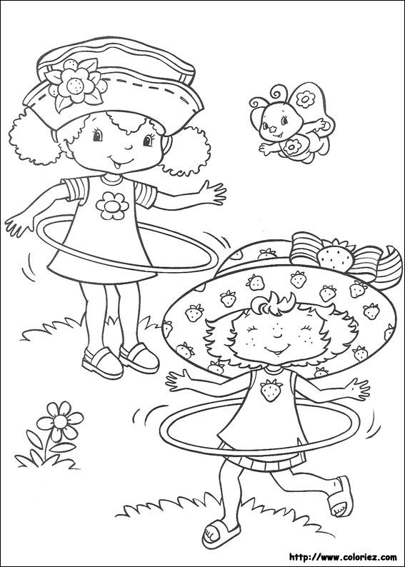 Coloriage charlotte aux fraises gratuit - dessin a imprimer #246