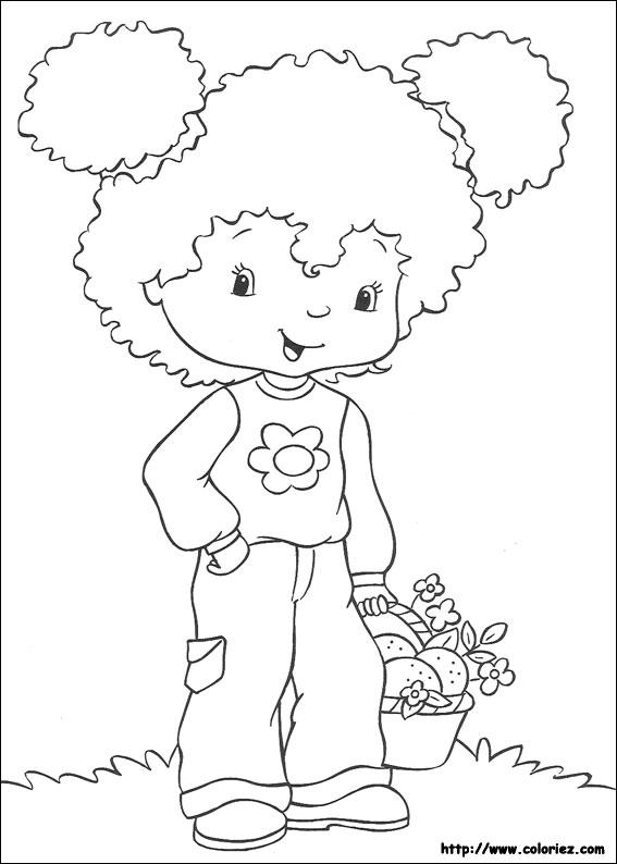 Coloriage charlotte aux fraises gratuit - dessin a imprimer #247