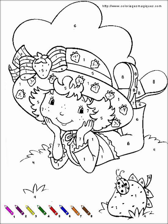 Coloriage charlotte aux fraises gratuit - dessin a imprimer #26