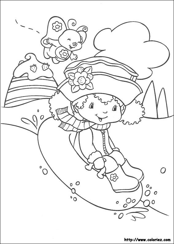 Coloriage charlotte aux fraises gratuit - dessin a imprimer #268
