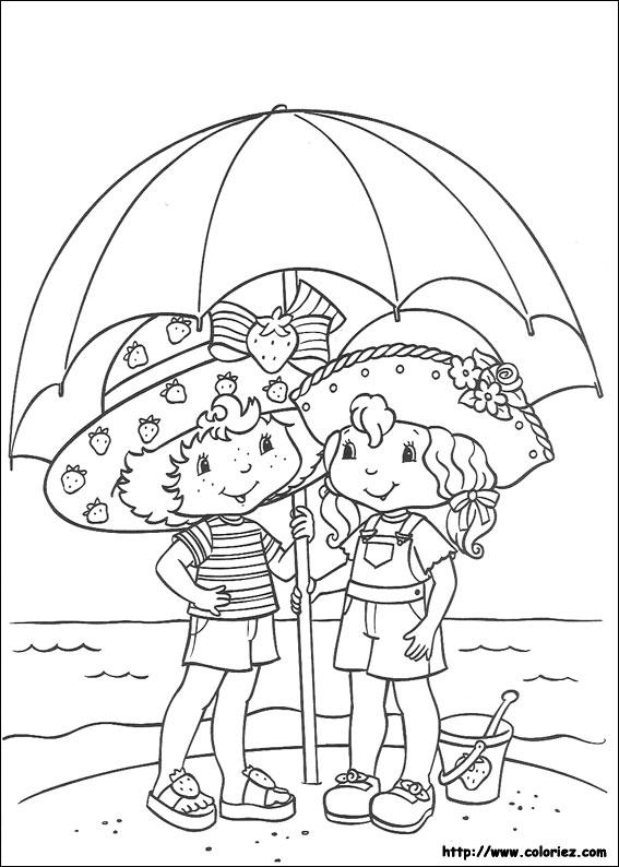 Coloriage charlotte aux fraises gratuit - dessin a imprimer #274