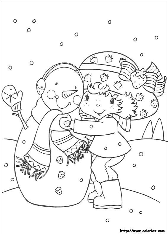 Coloriage charlotte aux fraises gratuit - dessin a imprimer #28