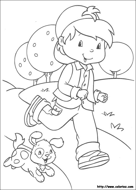 Coloriage charlotte aux fraises gratuit - dessin a imprimer #281