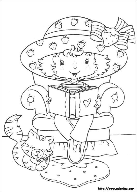 Coloriage charlotte aux fraises gratuit - dessin a imprimer #283