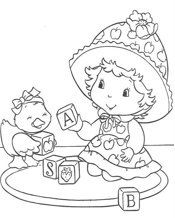 Coloriage charlotte aux fraises gratuit - dessin a imprimer #285